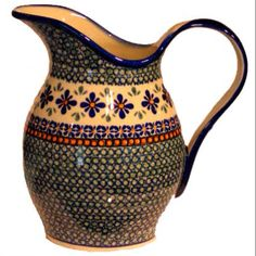 Hand made polish pottery  ~ pitcher