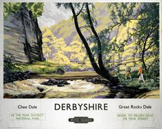 """Derbyshire Chee Dale, Great Rocks Dale"" on VintageRailPosters.co.uk Prints"