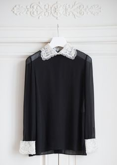 Peter Pan Embroidered Collar  Blouse