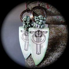 Art Deco Goes Modern earrings by AnvilArtifacts