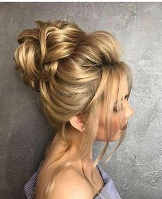 Bun Hairstyles Inspiration 15 Pretty Chignon Bun Hairstyles To Try  Pinterest  High Bun