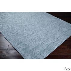Hand Loomed York Casual Solid Tone-On-Tone Area Rug