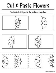 Fun cut and paste worksheets for preschool FREE printable. Perfect for fine motor skills and preschool cutting practice activities. Preschool Cutting Practice, Preschool Learning Activities, Free Preschool, Preschool Printables, Physical Activities, Cutting Practice Sheets, Cutting Activities For Kids, Preschool Activity Sheets, Play Therapy Activities