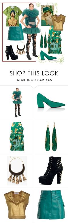 """""""Two different worlds met on this spot"""" by elza6 ❤ liked on Polyvore featuring Prada, Alice + Olivia, Yossi Harari, Chico's and Fanfreluches"""
