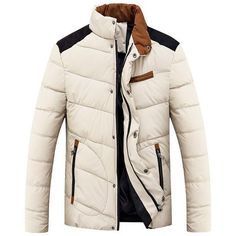 Men's Warm Winter Windproof Down Jacket