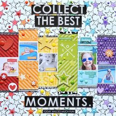 Bella Blvd Just Add Color & Color Chaos collections. Collect The Best Moments layout by creative team member Jennifer Chapin.