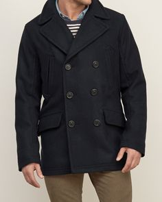 Mens Classic Wool Peacoat | Mens Clearance | Abercrombie.ca | My
