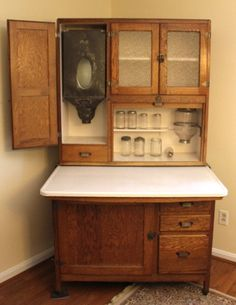 Antique Bakers Cabinet | OAK HOOSIER KITCHEN CABINET, $1495.00 WITH ...