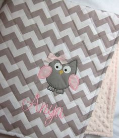Personalized Quilted Baby Blanket  … I want!
