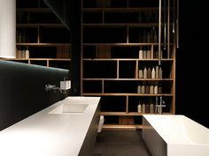 Single wall-mounted vanity unit with drawers K.KUBE METALLO BRONZO K.Kube Collection By RIFRA