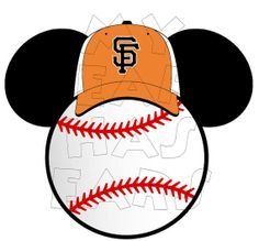 Printable DIY Baseball San Francisco Giants Mickey Mouse Disney Iron on digital clip art INSTANT DOWNLOAD