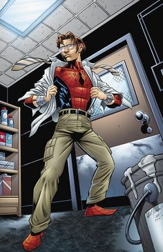 Spidey in storage room by HillmanArts on DeviantArt Spiderman Art, Amazing Spiderman, Marvel Art, Marvel Comics, Marvel Ultimate Spider Man, Mark Bagley, Mundo Marvel, Dc Anime, Man Illustration