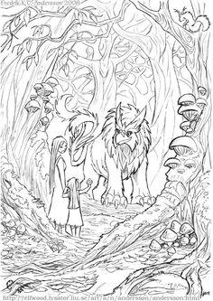 Glen of the Gryph - Fantasy Art