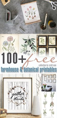 Our team browsed hundreds of free and not-so-free farmhouse printables and came up with a collection of BEST FREE FARMHOUSE DECOR PRINTABLES available. #freeprintable #farmhousedecor