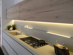 Cucina in Ecomalta e Legno | Le Nuove Kucine | Piano cottura Miele