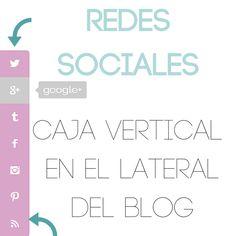 Caja de redes sociales vertical en el lateral del blog