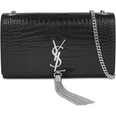 37d5b20d8f49 Saint Laurent Monogram croc-embossed leather satchel ( 1