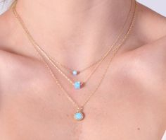 layered necklaces opal gold necklace opal necklace by amitvtamar
