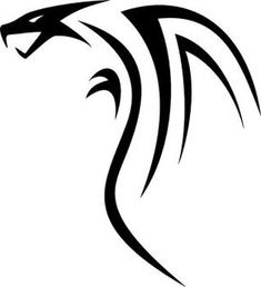 a sketchup of a tribal dragon that I had drawn