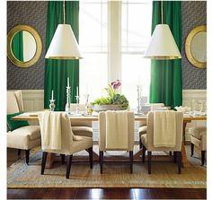 Blanco Interiores: Verde esmeralda + Cinza.