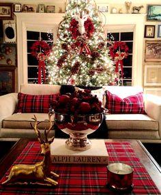 Western Christmas, Tartan Christmas, Christmas Design, Country Christmas, Vintage Christmas, Christmas Tree Gif, Christmas Decorations For The Home, Xmas Decorations, Christmas Home