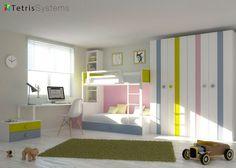 Habitación para 3 niños con Litera