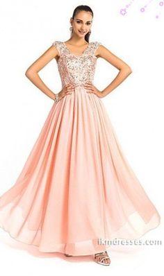 rom Dresses A Line Floor Length V Neck Chiffon Beading & Sequins http://www.ikmdresses.com/Prom-Dresses-A-Line-Floor-Length-V-Neck-Chiffon-Beading-amp-Sequins-p82976