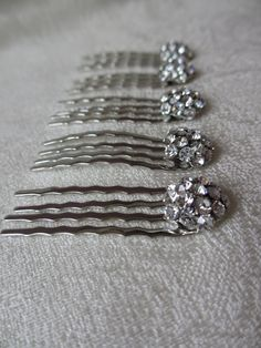 Small Swarovski Hair Button Comb Wedding by UniqueJewelryLLC 2e940be9a9