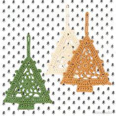 Háčkování Christmas Tree zdarma vzor, Anabelia Craft design