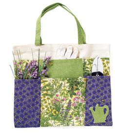 Garden Tote instructions - pretty and practical for this time of year!