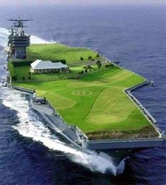 Just think of the below deck space, movie theater, track, pool, spa, fast food, the works baby!!!