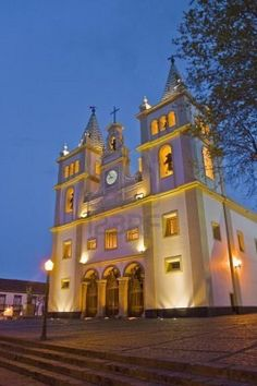 Cathedral of Angra do Heroismo in Tereceira I sat on those steps with Lee and watched the parade, fun night.