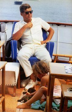 .JFK and Caroline.