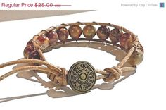 https://www.etsy.com/treasury/MjIxMTk2NzJ8MjcyNDkyNjg0NA/from-summer-to-winter-quickly ON  SALE Mens Leather Wrap Bracelet  Birdseye by BeadingDerby, $20.00