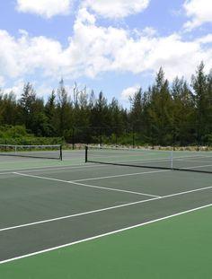 Tennis Courts at Old Bahama Bay resort, West End, Grand Bahama Island