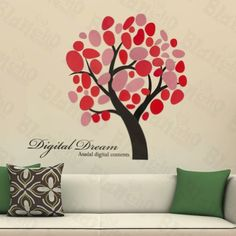 Creative tree - Large Wall Decals Stickers Appliques Home Decor by Hemu Wall Sticker. $7.99. Show your creativity by turning your wall into a beautiful work of art with wall art decals.. With little cost or effort you can decorate your home without the trouble or expense of painting.. This decal would be perfect for nearly any room in the house: your living room, bedroom, etc.. Simply apply this decal to your wall to immediately bring in a fresh new atmosphere a...