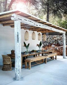 Une terrasse originale et qui n'est pas chère...