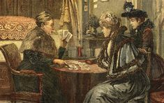 Victorian card reading