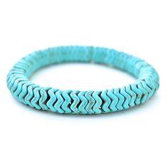 Turquoise Chevron Women's Bracelet - Chevron is my new fav design!