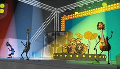 Short animated cartoon is played in a world where all actors are musical instruments. Each instrument speaks in their own musical voice. There live a nice little acoustic guitar, Sounzee. In this episode Sounzee is on a great Metal concert (Metallica...) and the girl, whom he likes, is very impressed with the rock show. So, Sounzee decides that he will be a rock star....