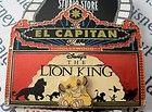 Disney DSF El Capitan Simba Lion King Marquee LE 300 Pin