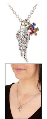 Piece of the Puzzle Angel Wing Necklace at The Autism Site
