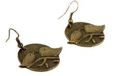 """""""Boucles d'oreilles toi et moi""""-Boucles d'oreilles avec des oiseaux"""