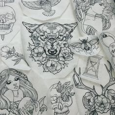 #tattooflash .. Something I've been working on during the small breaks I get…