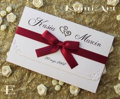 "Ślubowisko.pl - Zaproszenia ślubne z kolekcji: ""Cudne"" Origami, Place Cards, Place Card Holders, Gift Wrapping, Gifts, Gift Wrapping Paper, Presents, Paper Folding, Gifs"
