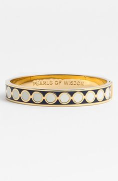 kate spade new york 'idiom - pearls of wisdom' enamel hinged bangle available at #Nordstrom