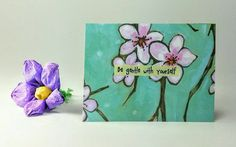 $5 Quote Magnet Be gentle with yourself by InnerCathedral on Etsy