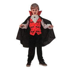 This children's deluxe vampire costume will be a hit at your next dress up party. Includes: Cape with attached shirt and collar Pants Sizing Ages: for Height: Chest: Waist: Ages for Height Chest: Waist: Ages for Height Chest: Waist: Childrens Fancy Dress, Fancy Dress Outfits, Halloween Costumes, Collection, Tops, Dresses, Women, Fashion, Vestidos