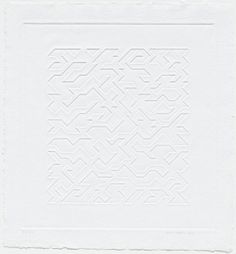 Anni Albers, 'Mountainous I', 1978, embossing, National Gallery of Australia, Canberra, purchased 1979