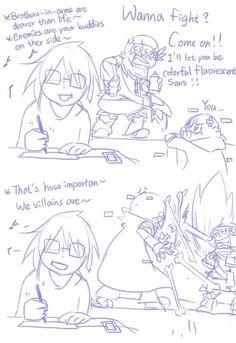 Miya-San: Hermanos en armas son más caros que la vida~ Tus enemigos son tus amigos en el otro lado~